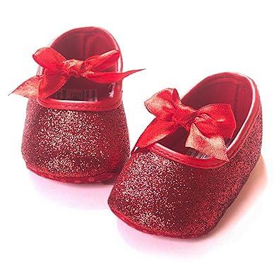 Amazon.com: Z-T FUTURE - Zapatos para bebé, niñas, con lazo ...