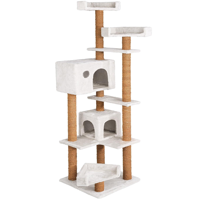 TecTake - Árbol rascador para gatos, 166 cm, cuerda de coco, disponible en varios colores: Amazon.es: Productos para mascotas