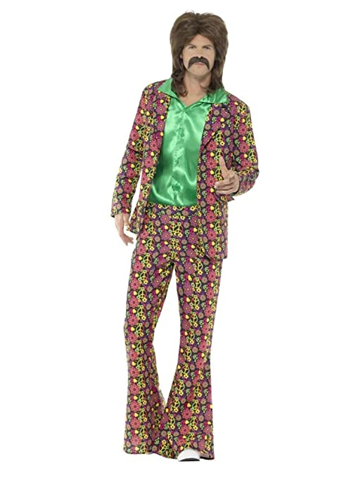 60s -70s  Men's Costumes : Hippie, Disco, Beatles Smiffys 60s Psychedelic CND Suit Size: Medium $32.02 AT vintagedancer.com