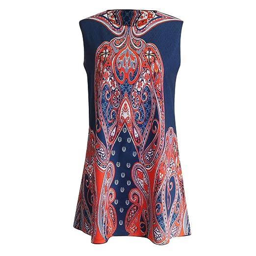 393d6f06024 TWGONE Summer Dresses for Women Plus Size Flowy Vintage Boho Sleeveless  Tunic Tank Tops at Amazon Women's Clothing store: