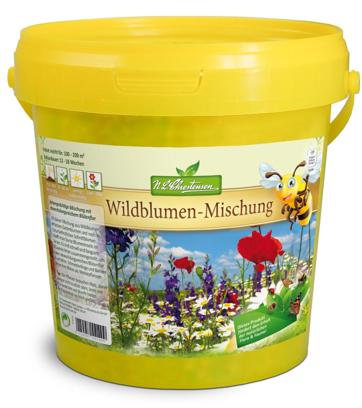 Ein Paradies f/ür alle Insekten Blumensaatgut Mehrfarbig N.L.Chrestensen SET 2 Eimer