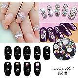 Nail Art Rhinestone Ab White Crystal 1440pcs/bag Shining Non Hotfix Flatback Rhinestone Decorations for Nails SS5