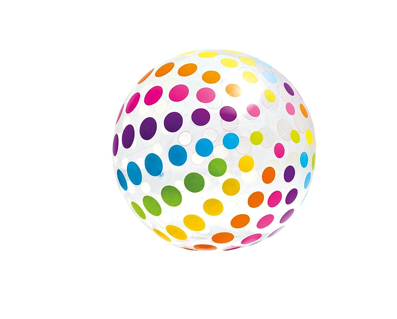 Intex 59065NP - Pelota hinchable gigante círculos de diámetro 107 cm, 3 años: Amazon.es: Juguetes y juegos