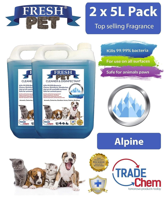 2 x 5L fresco mascota orina olor pequeño eliminador de olor - fragancia - comercio Chem: Amazon.es: Productos para mascotas