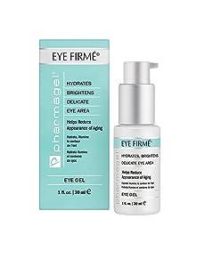 Pharmagel Eye Firme | Eye Gel for Natural Firming, Puffiness, and Wrinkles | Dark Circles Under Eye Treatment | Under Eye Bags Treatment - 1 fl oz