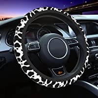 Cars Sedans Trucks Vans Milk Cow Print Steering Wheel Cover for Women Men Universal 15 Inch Anti Slip and Sweat Absorption Auto Car Wrap Cover Fit Suvs