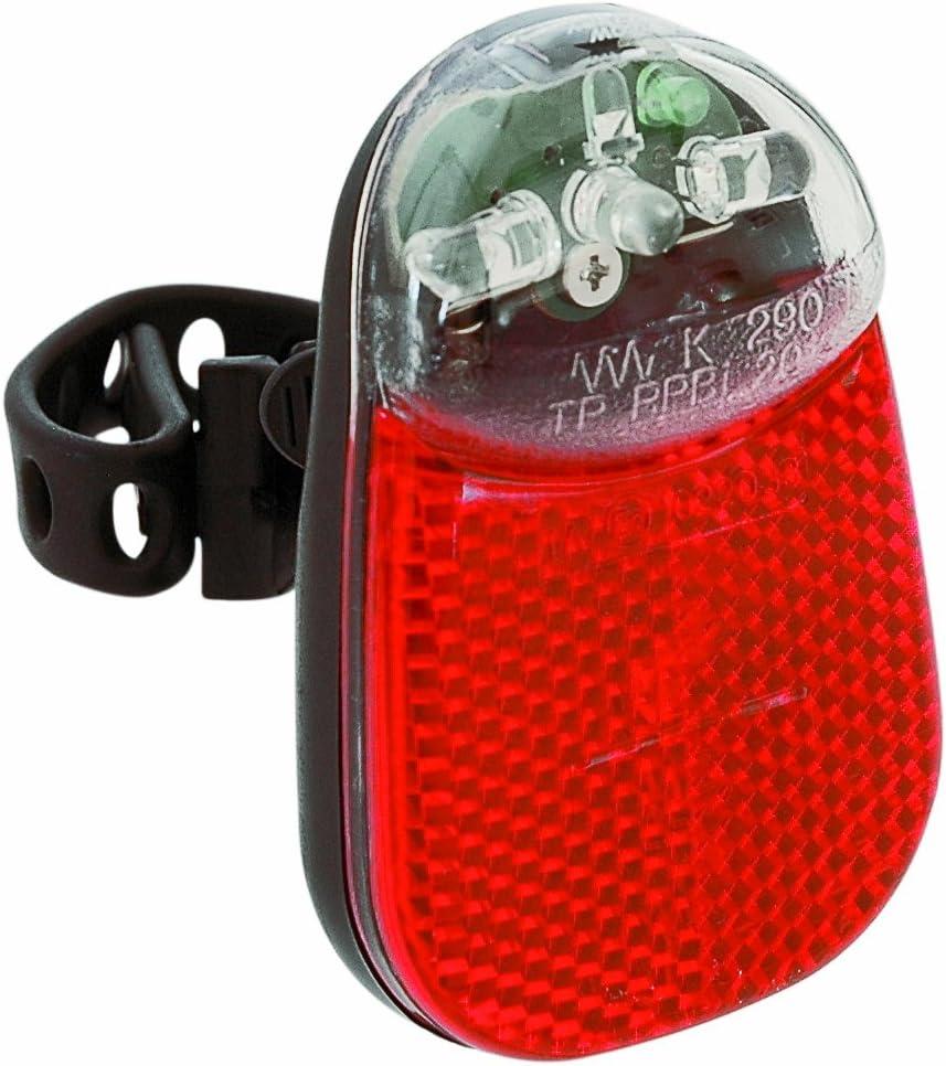 Funcionamiento a Pilas Luz Trasera para Bicicleta Color Negro B/üchel 51634 Beetle