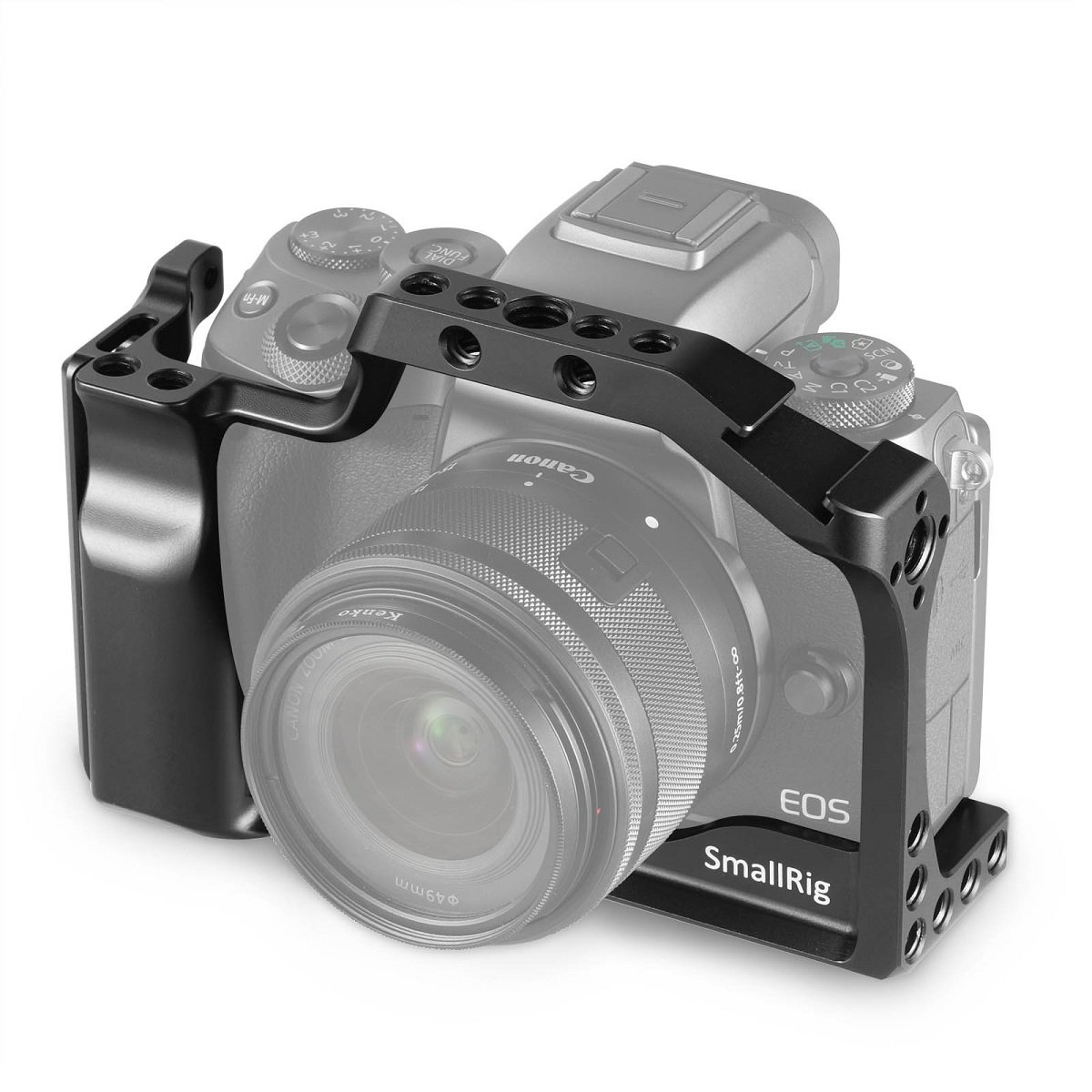 SmallRig Cage for Canon EOS M50 and M5 with Integrated Grip and Quick Release NATO Rail 2168 2168-CF