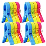 ESFUN 16 Pack Beach Towel Clips Chair Clips Towel