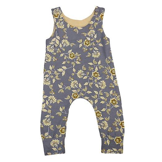 511f37c9f2b3 Amazon.com  Newborn Baby Girl Sleeveless Floral Romper Jumpsuit ...