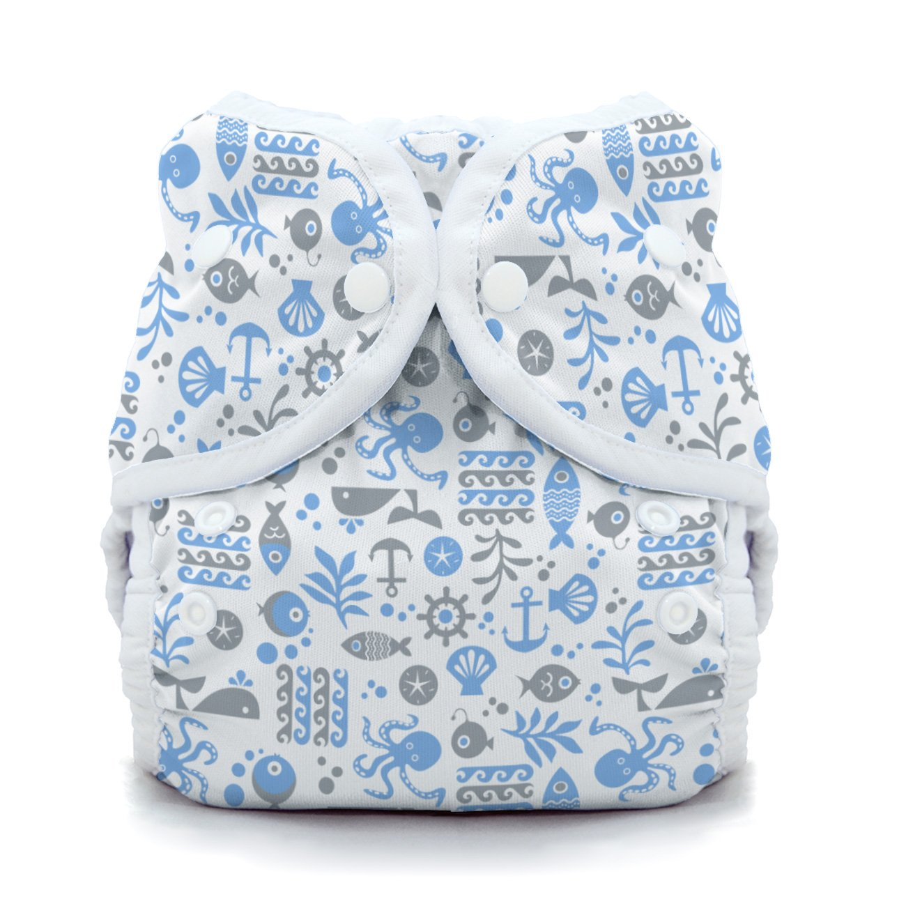 Thirsties Duo Wrap Cloth Diaper Cover - Ocean Life - Size 1 - Snap