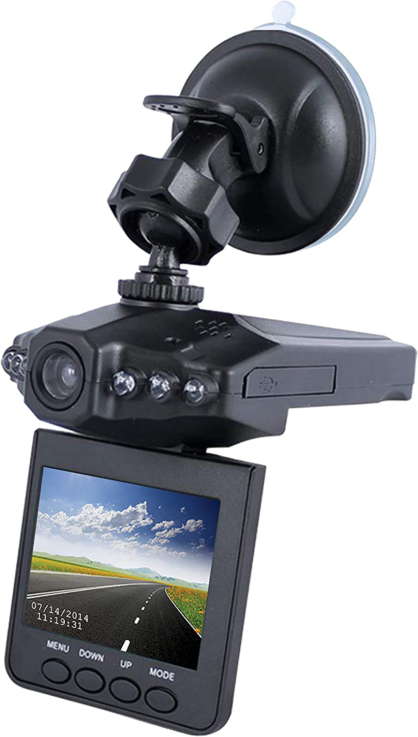 "DashCam Pro - As Seen on TV Dash Cam 360°, Motion Detection, 2.5"" LCD, 720P HD, Dashboard Camera Video Recorder,..."