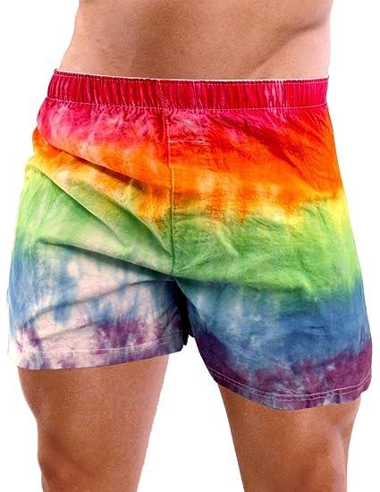 3dc849deb1 Rainbow Tie Dye Gay Pride Mens Boxers Underwear - Large at Amazon Men's  Clothing store: