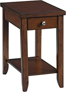 Lane Home Furnishings 7603-41 Chairside Table - Power, Cocktail, Dark Brown