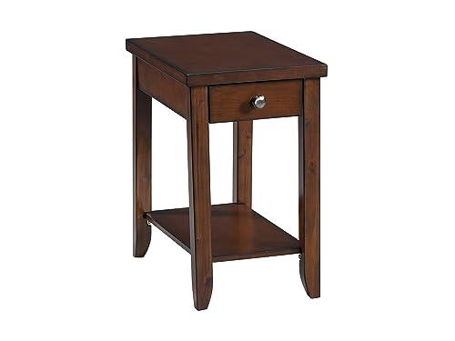 Lane Home Furnishings Chairside Table – Power, Cocktail, Dark Brown