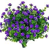 TEMCHY flores artificiais, falsos arbustos de madeira boxwood resistentes a UV para ambientes externos de plástico sintético
