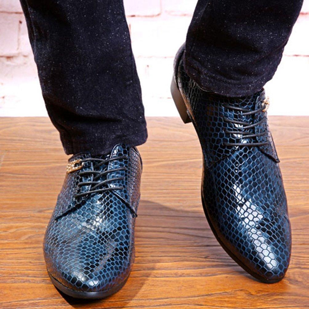 Bootsschuhe Schuhe Oxford Shoes Leder Casual Business Pointierte Hochzeitskleid Männer clJK1TF3