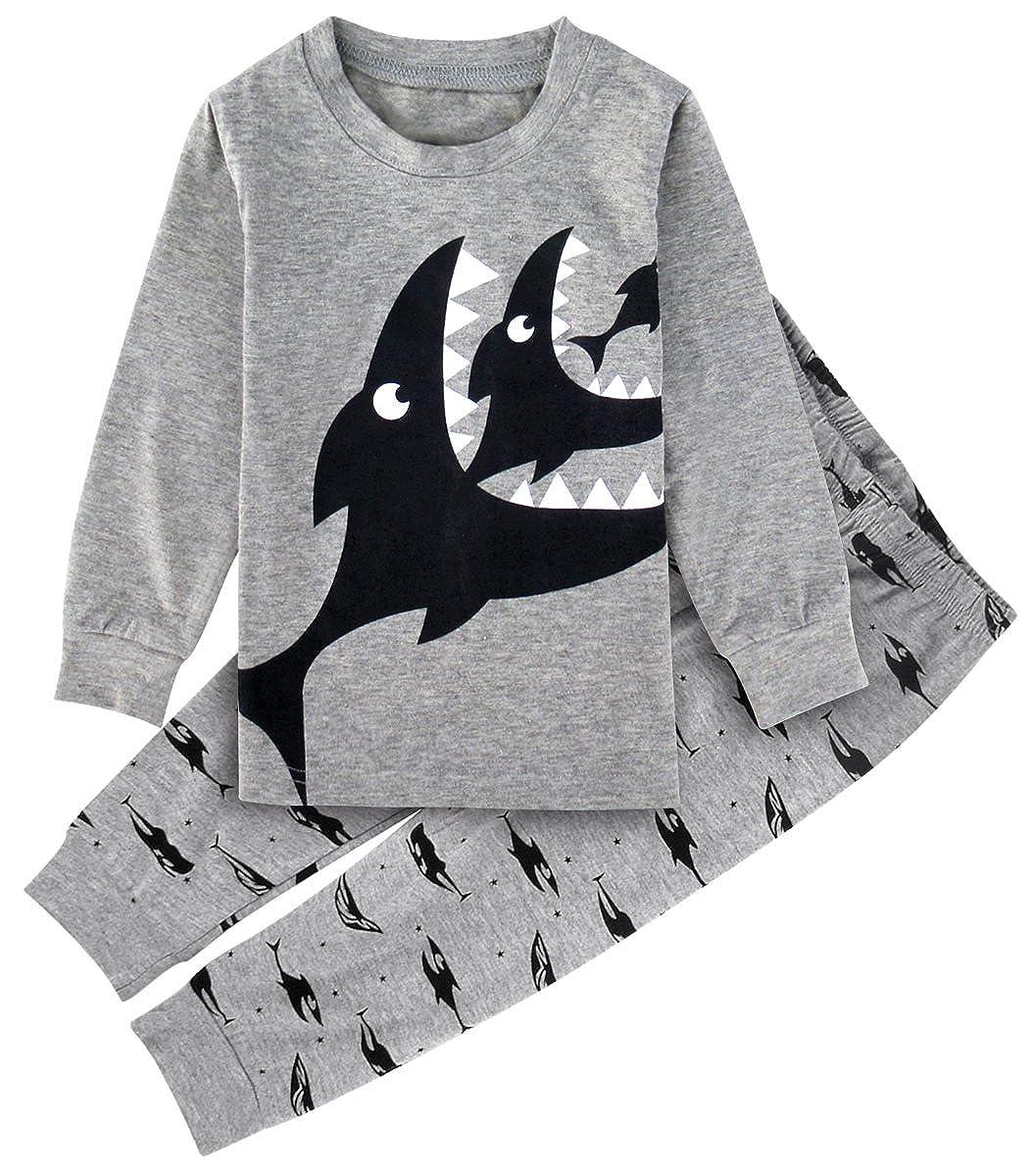 A& J DESIGN Kid Boys Funny Sleepwear Sets Animal Pajamas Suit