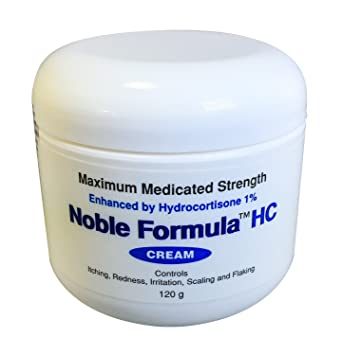 Noble Formula 1% Hydrocortisone Cream with  25% Pyrithione Zinc (Znp), 4 oz