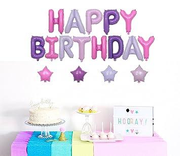 amazon com vagski colorful happy birthday balloons banners for