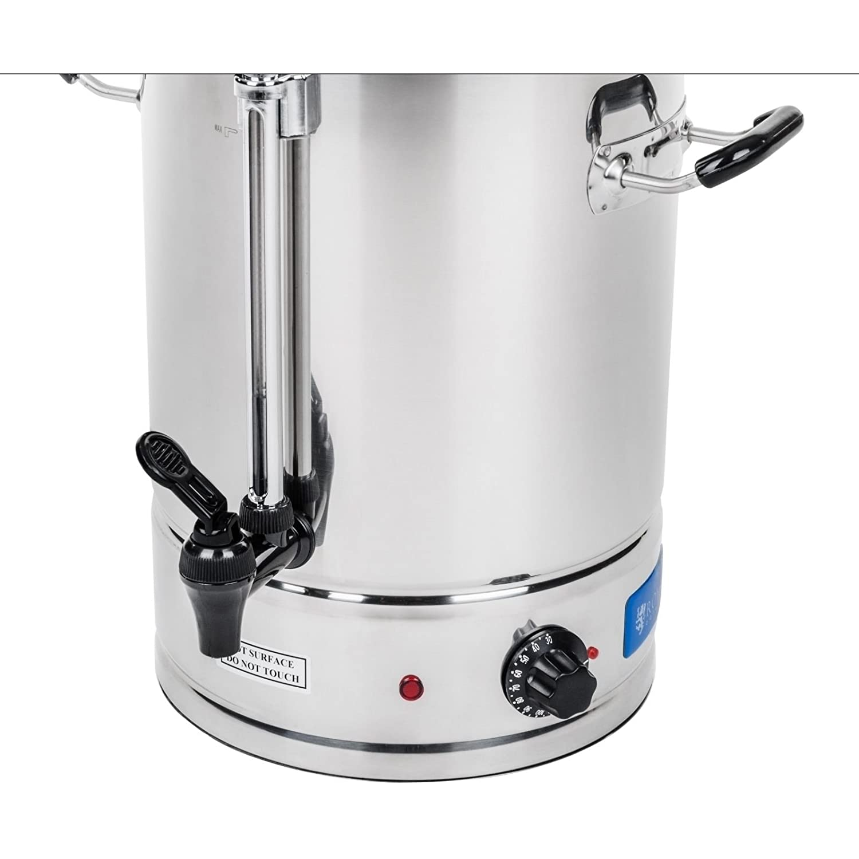 Royal Catering - RCWK 10L - Hevidor de agua de 10 Litros - 62 Tazas - max. 100 °C - 2000 W - Grifo - Indicator de nivel - Envío Gratuito: Amazon.es: Hogar