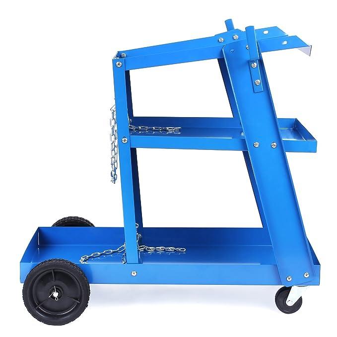 fixkit carrito de carro de soldadura máquina de soldadura MIG TIG ARC de almacenamiento para tanques de seguridad para botella de gas: Amazon.es: Bricolaje ...