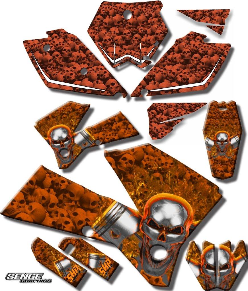 Senge Graphics 2002-2008 KTM SX 65, Flaming Gearhead Orange Graphics Kit