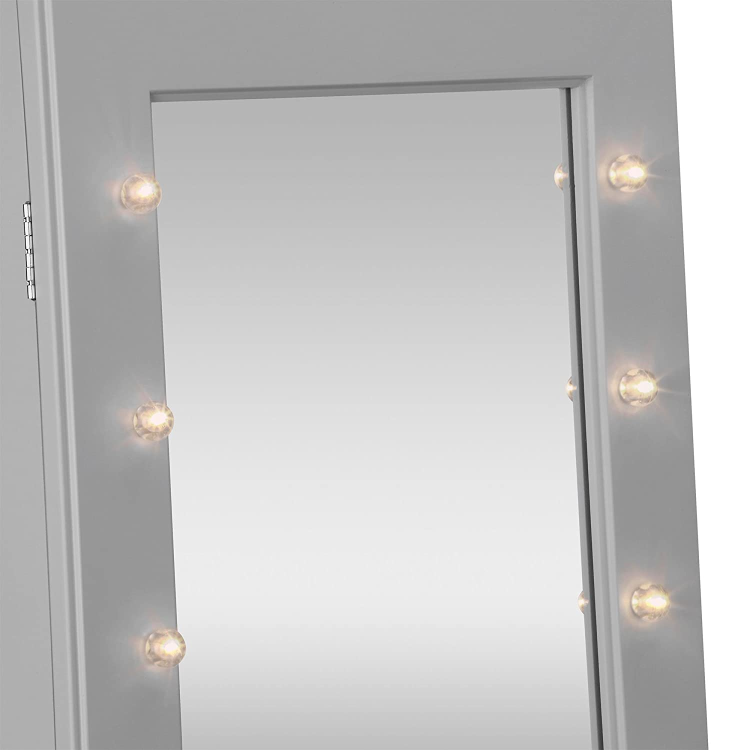Amazoncom Beautify Mirrored Jewelry Armoire with LED Lights