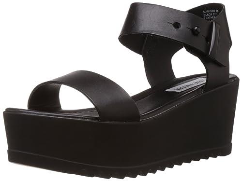 21829fb678db Steve Madden Surfside - Black Chunky Platform Wedge Sandal  Amazon.ca   Shoes   Handbags