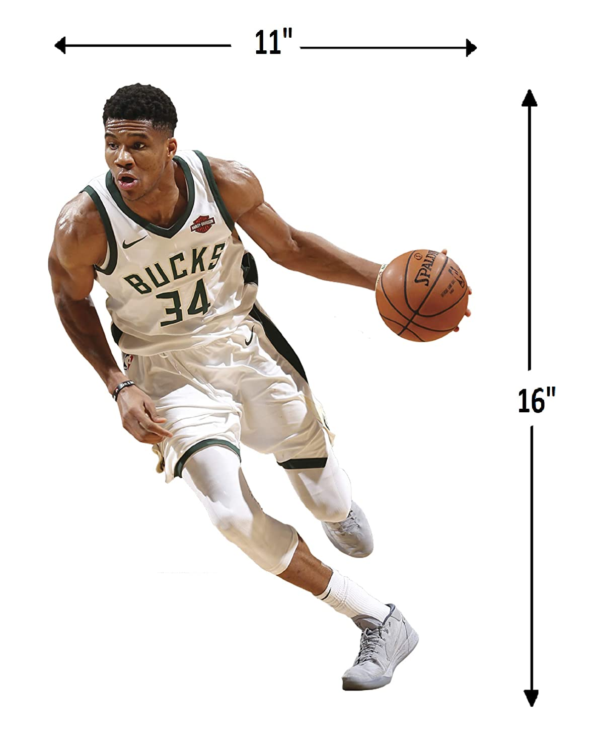 Large 1900-00312-005 Multicolor Fathead NBA Milwaukee Bucks Giannis Antetokounmpo Officially Licensed Removable Wall Decal