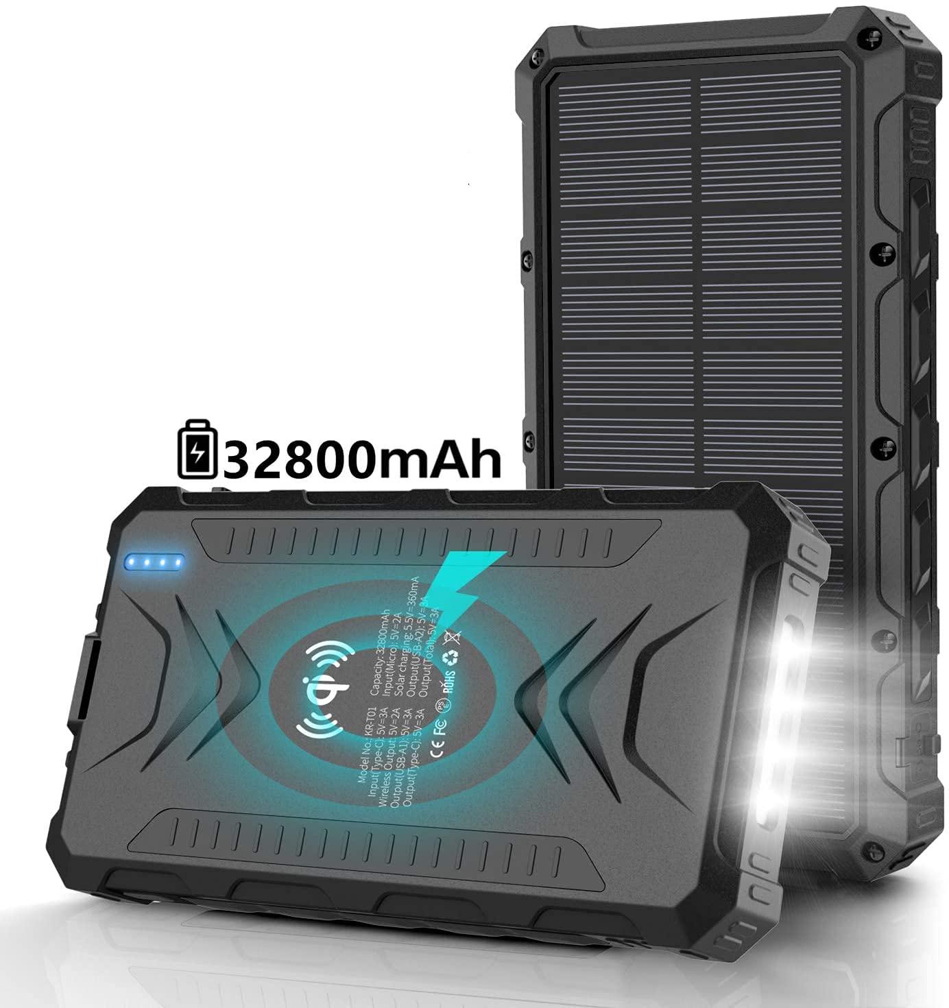 Solar Power Bank 32800mAh