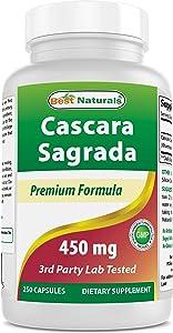 Best Naturals Cascara Sagrada 450 mg 250 Capsules