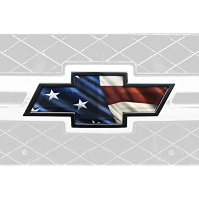 Mossy Oak Graphics 300005 Patriotic American Flag Auto Emblem Skin for Truck or Car: Automotive