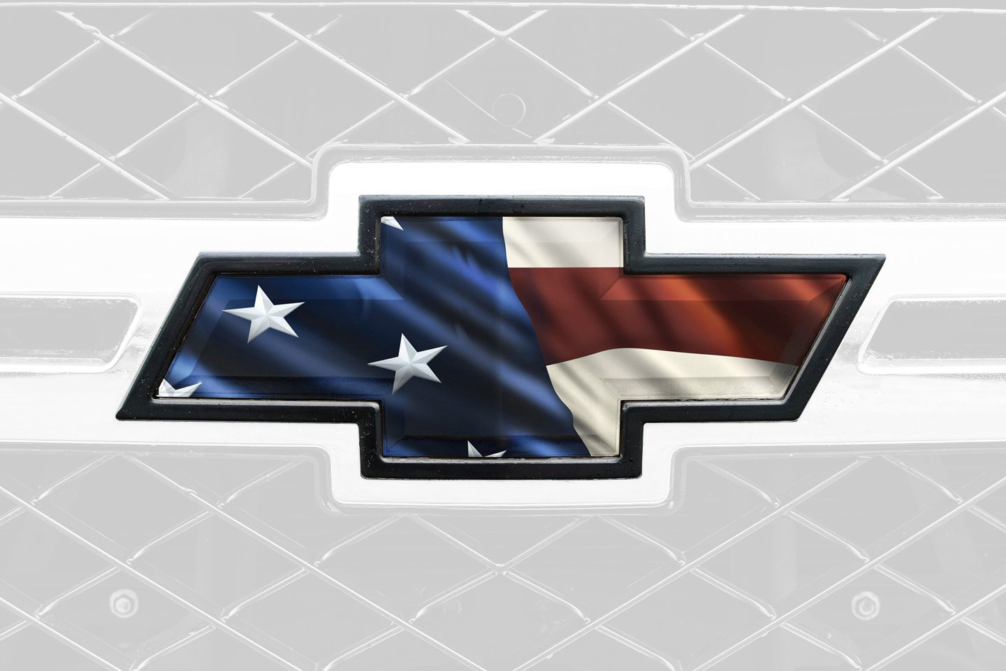 american flag front bowtie grill tailgate decal overlay. Black Bedroom Furniture Sets. Home Design Ideas