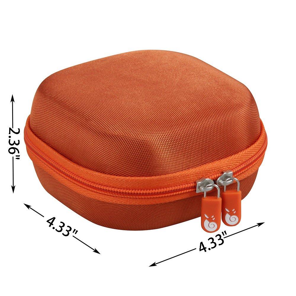Hard EVA Travel Bright Orange Case for Bose SoundLink Micro Bluetooth Speaker by Hermitshell by Hermitshell (Image #6)