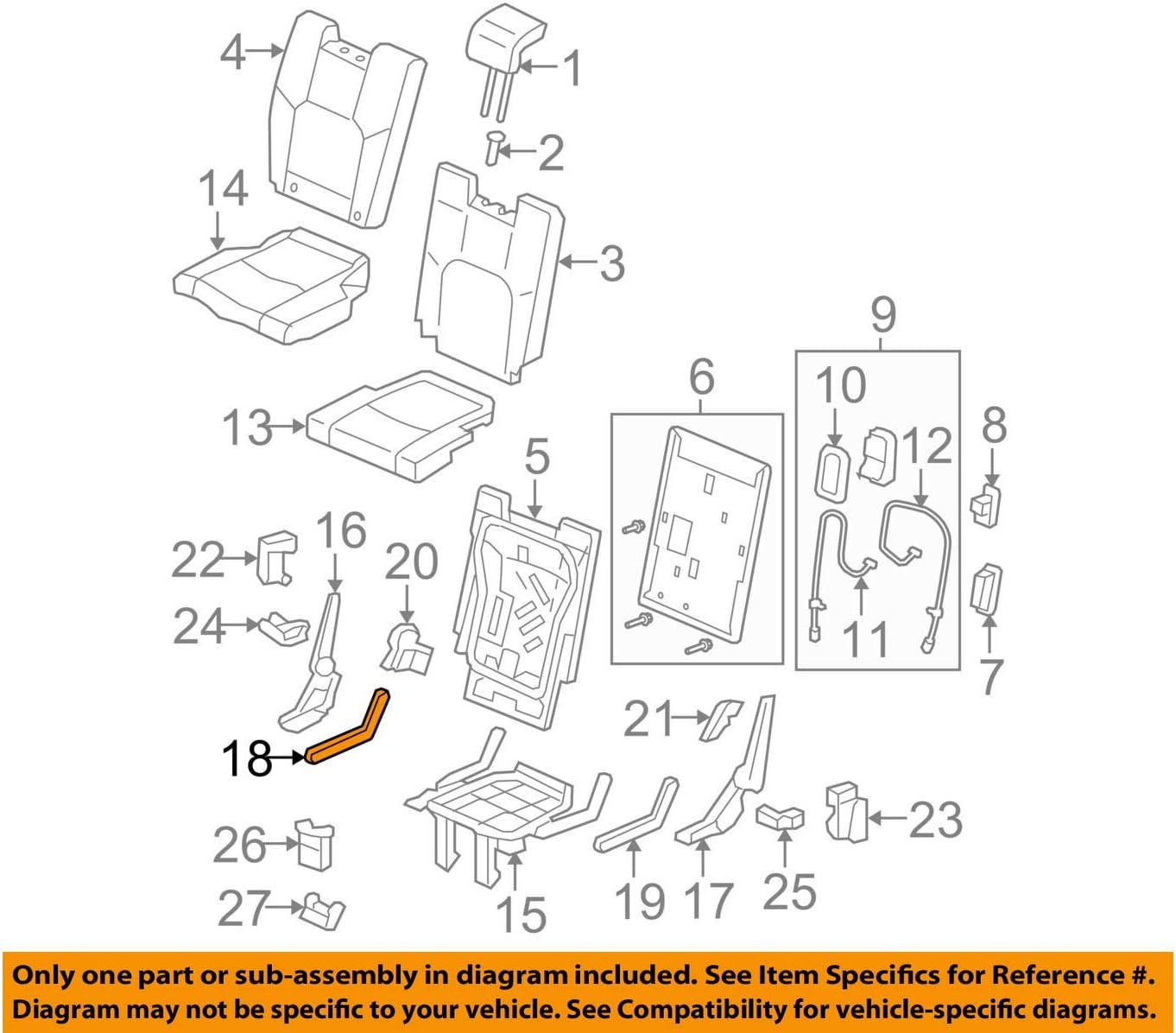 Honda Genuine 82516-SZA-A01ZB Seat Cover