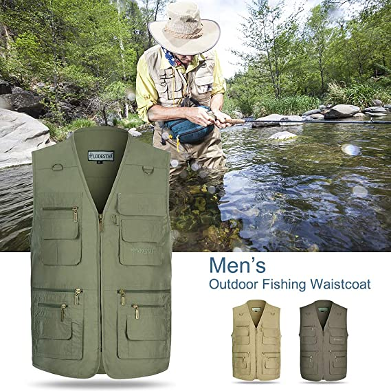 LUSI MADAM Herren Jeansweste Leisure Outdoor Fishing /Ärmellose Freizeit Weste