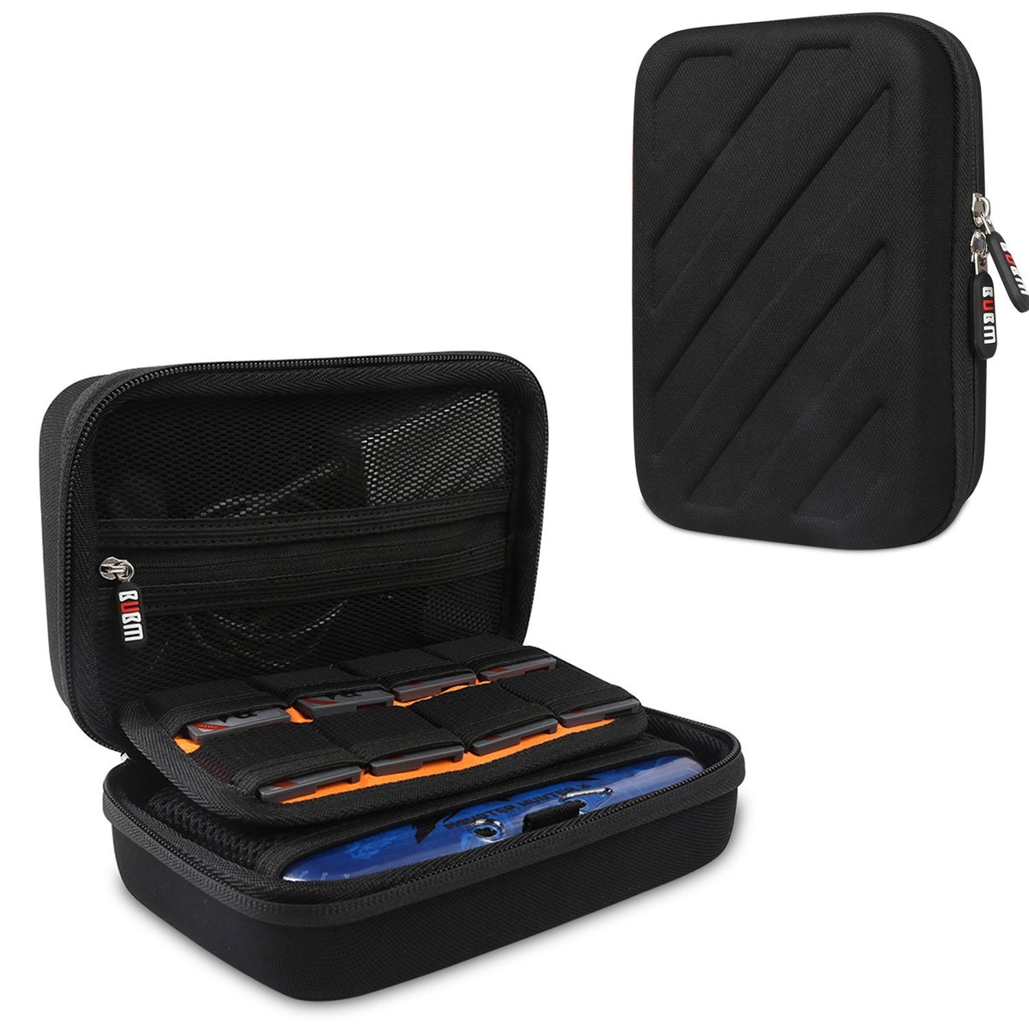 BUBM NEW 3DS XL Case Travel Organizer-Travel Carrying Game Case for Nintendo DS/3DS Games and Charger-Hard EVA Nintendo 3ds XL Case pouch for 3DS/3DS XL/3DS LL/NEW 3DS/NEW 3DS XL-Black