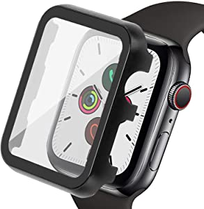 Ritastar for Apple Watch Case with Screen Protector 40mm Metal Bumper Cover HD Clear High Responsive Tempered Glass Bubble-Free Anti-Scratch Shockproof Protection for iWatch Series 6 SE 5 4 Women Men