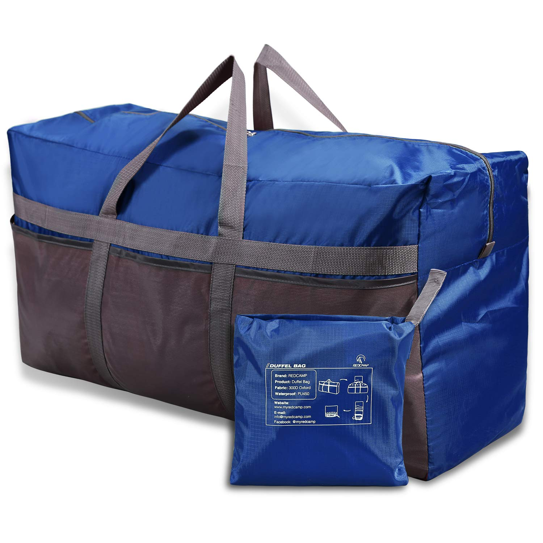 Black 75L Large Travel Bag REDCAMP Foldable Lightweight Duffle Bag Water Resistant Holdall Duffel Bag for Men and Women