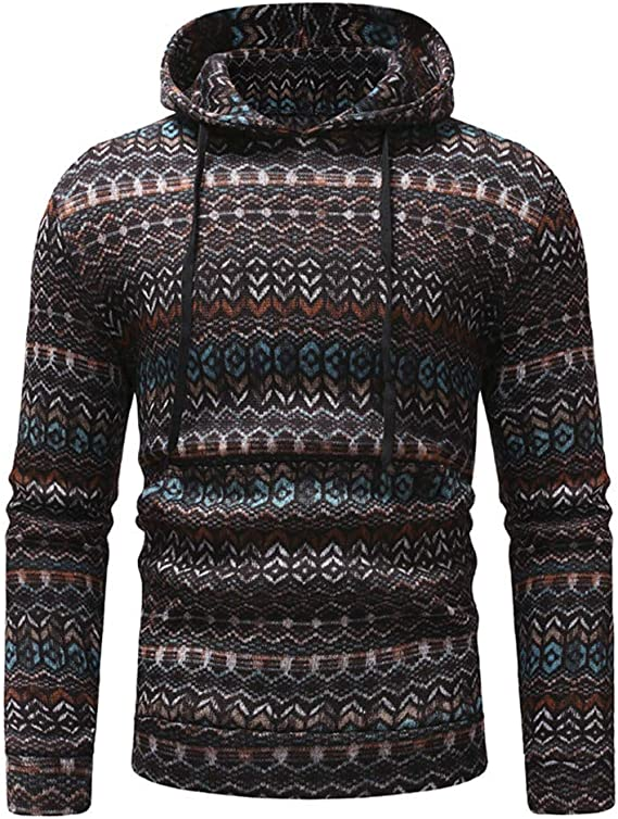 ARTFFEL Mens Plus Size Letter Print Velvet Thicken Pullover Hooded Hoodie Sweatshirt