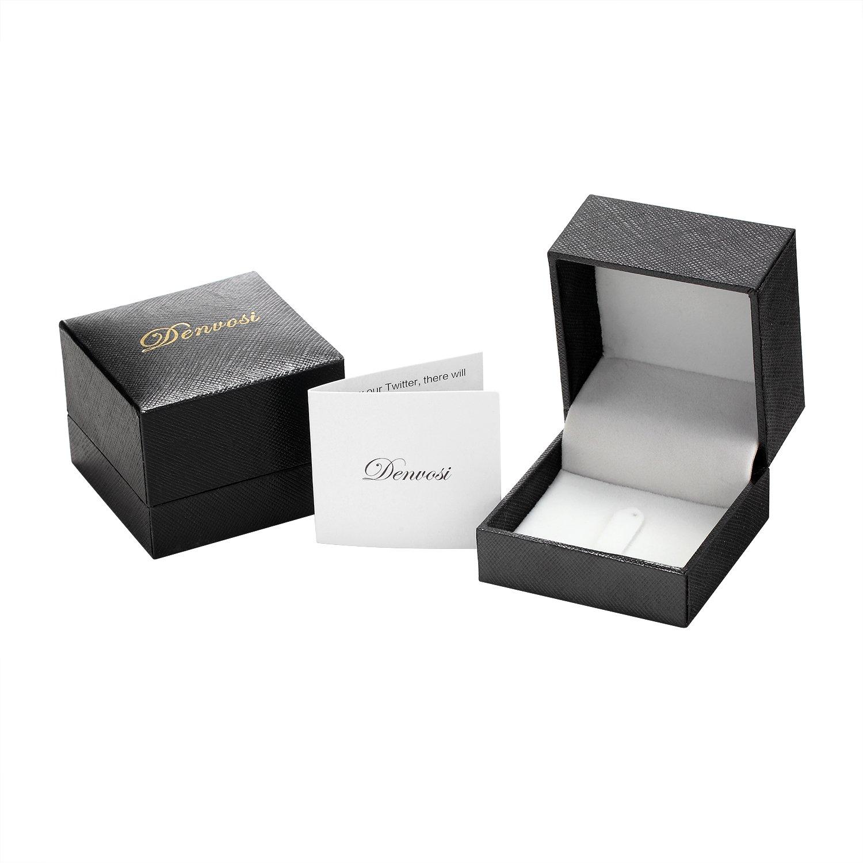 Denvosi Men Wedding Band Tungsten Ring 8MM Brick Pattern Matte Brushed Silver Surface Engagement Anniversary Ring Comfort Fit Size 10.5 by Denvosi (Image #6)