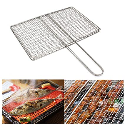 Amazon.com: Superjune - Parrilla para barbacoa de pescado de ...