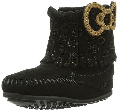 Amazon.com | Minnetonka Girls' Hello Kitty Fringe Boot Moc Toe ...