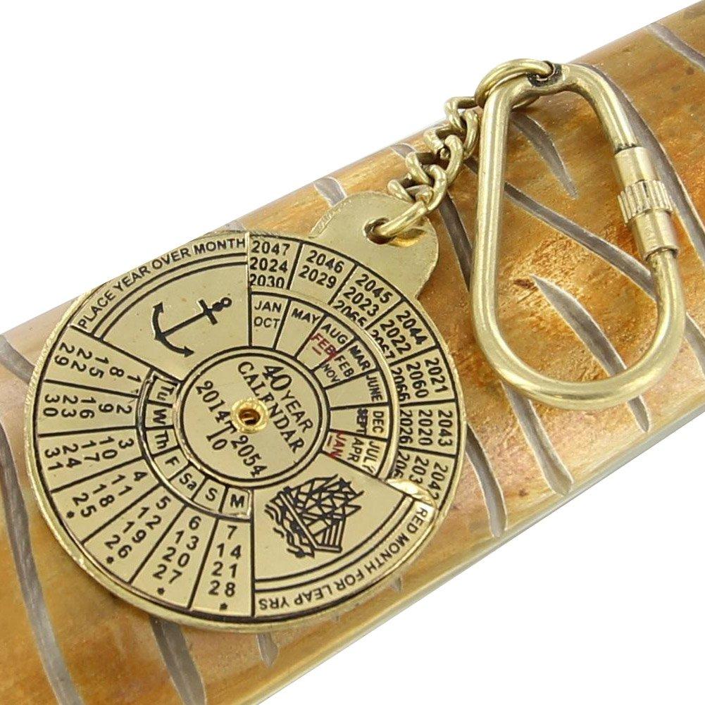 Amazon.com: Nautical 40 Año Calendario hecho a mano llavero ...