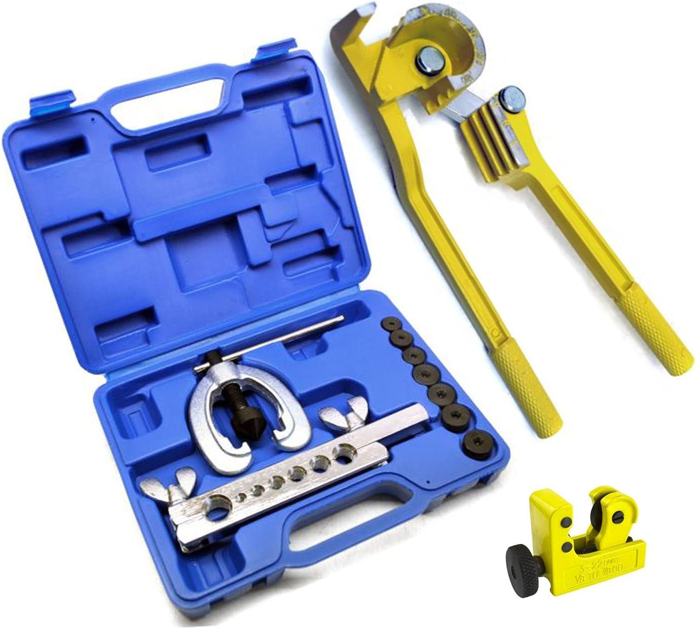 Brake Fuel Pipe Tube Repair Set Metric Flaring Kit Mini Bender /& Tube Cutter
