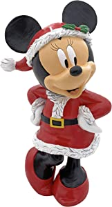 The Galway Company Disney Minnie Mouse Dressed as Santa Garden Statue, Stands 10 Inches Tall and 6 Inches Wide