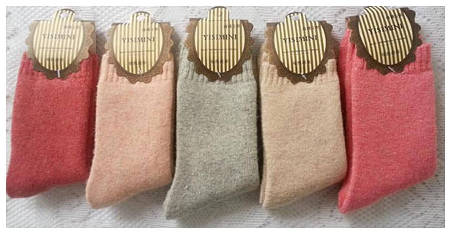 5 Pairs Soft & Comfortable & Warm Women's Wool Cashmere Socks One Size Fits all