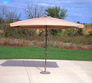 Amazon.com : Bar Height Rectangle Patio Umbrella - Beige : Garden ...