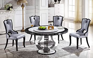 Round Marble Dining Table With Lazy Susan T 6316 Only